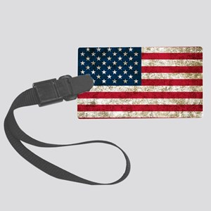 USA Grunge Large Luggage Tag